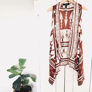 🆕 Listing! Rust tribal sweater swing vest
